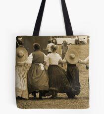 Hoop skirts in Sepia Tote Bag