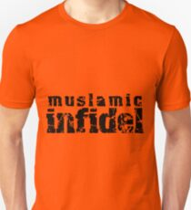'Muslamic Infidel' Stencil (Black) T-Shirt