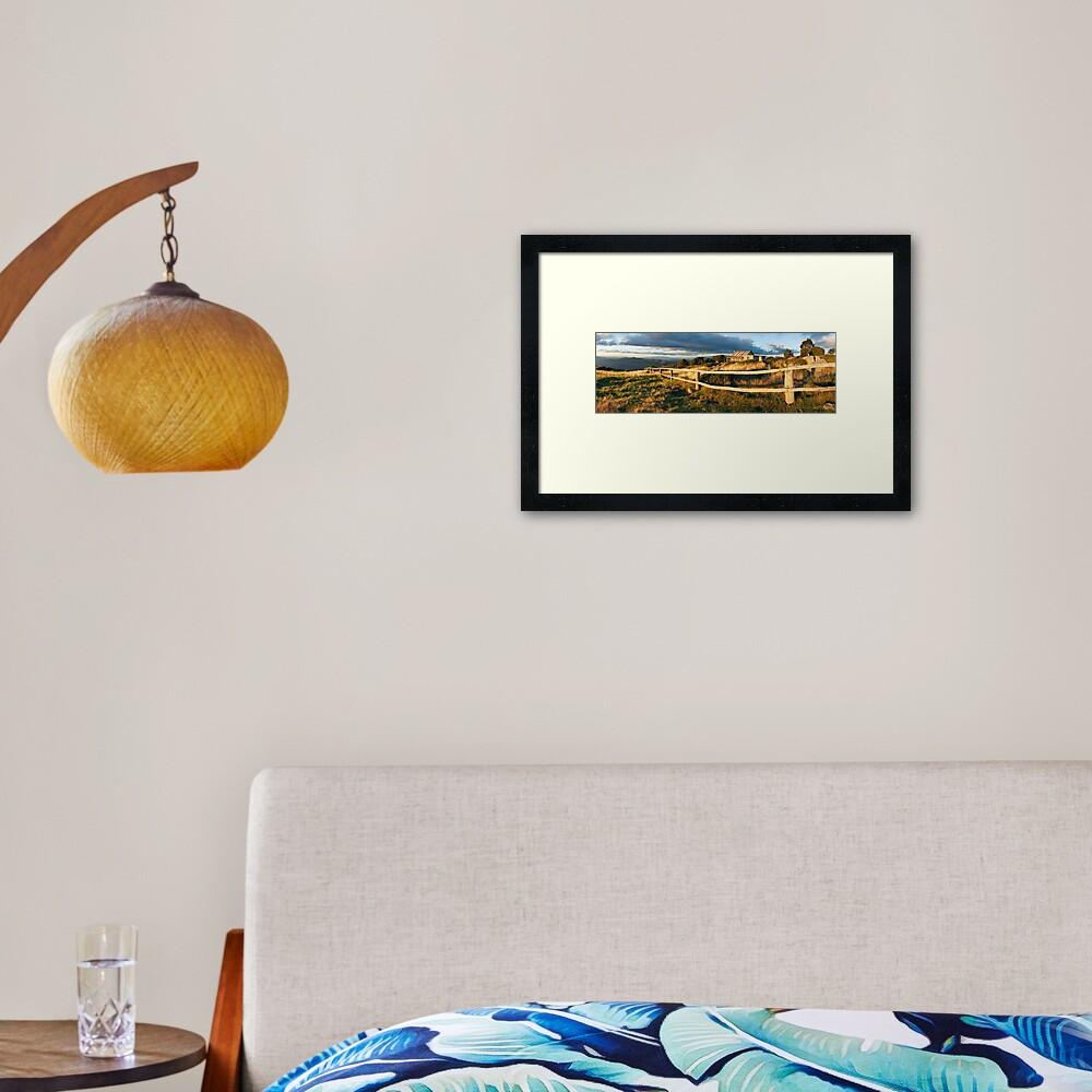 Craig's Hut Autumn Sunset, Australia Framed Art Print