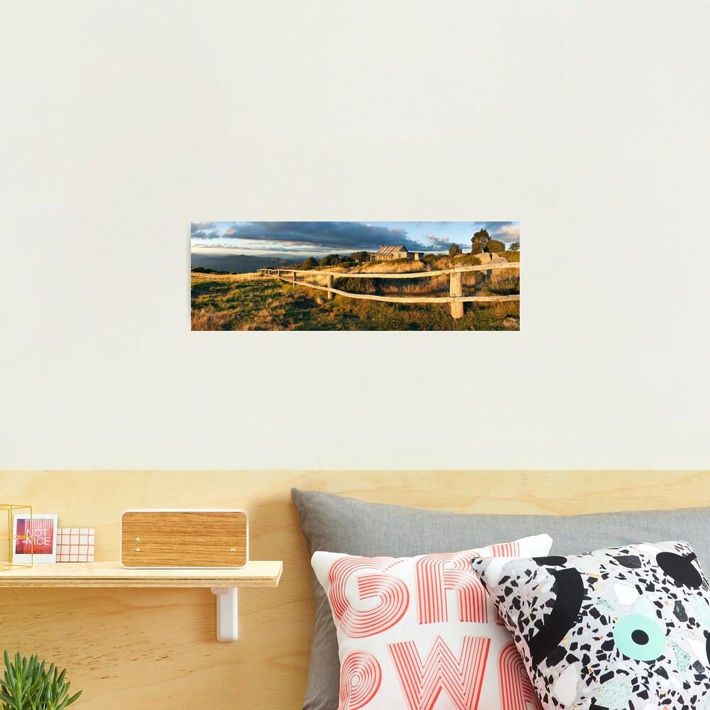Craig's Hut Autumn Sunset, Australia Photographic Print