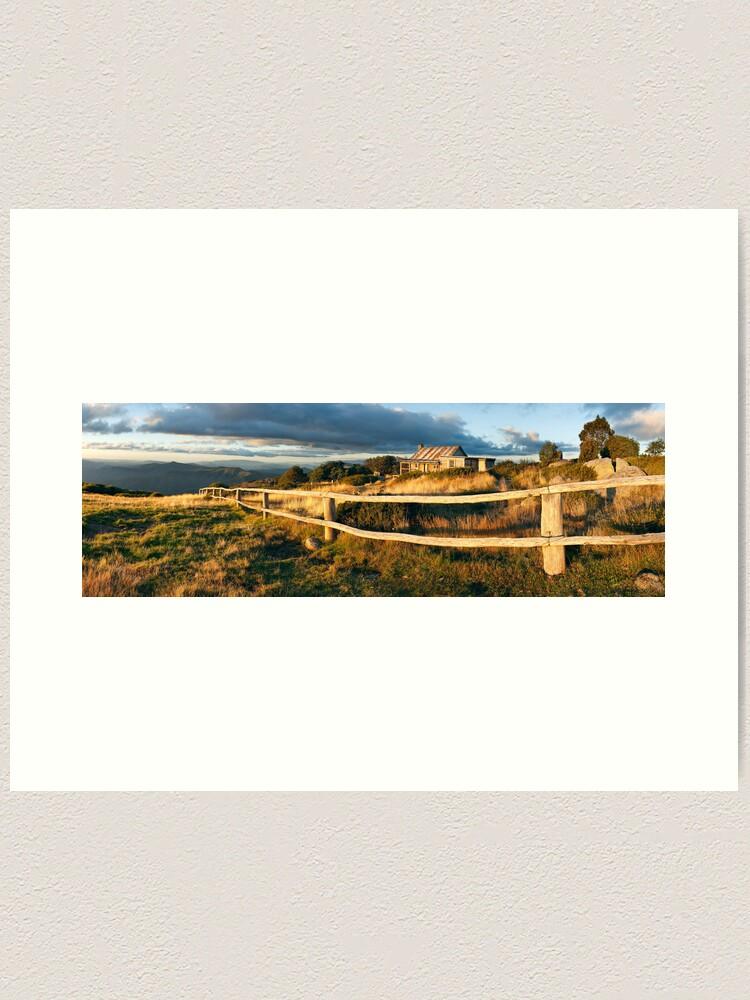 Alternate view of Craig's Hut Autumn Sunset, Australia Art Print