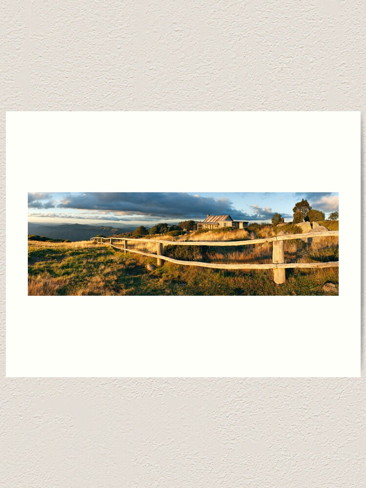 Alternate view of Craig's Hut Autumn Sunset, Australia Art Print
