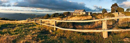 Craig's Hut Autumn Sunset, Australia by Michael Boniwell