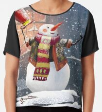 Let it Snow Chiffon Top