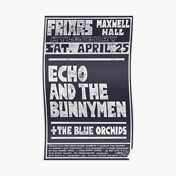 Echo And The Bunnymen (distressed design) Poster