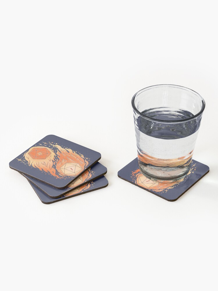 Alternate view of A Roll of the Die Coasters (Set of 4)