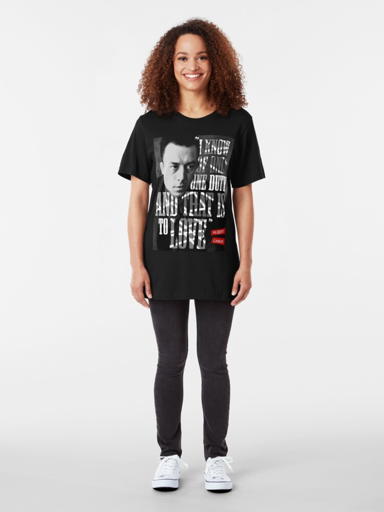 Alternate view of Albert Camus Quote Slim Fit T-Shirt