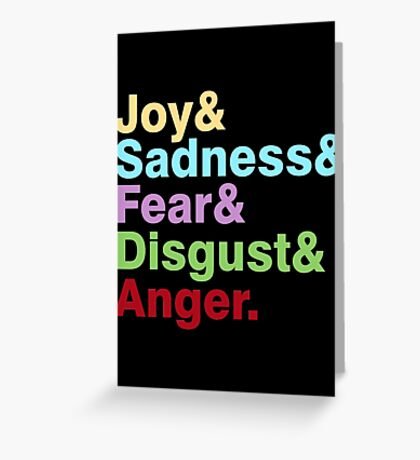 The Emotions Greeting Card