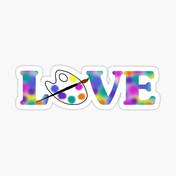 Palette Love Sticker