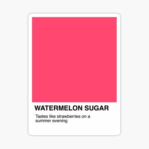 Wassermelone Zucker-Pantone Sticker