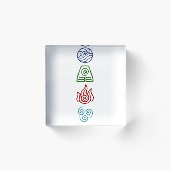 Avatar Four Elements Acrylic Block