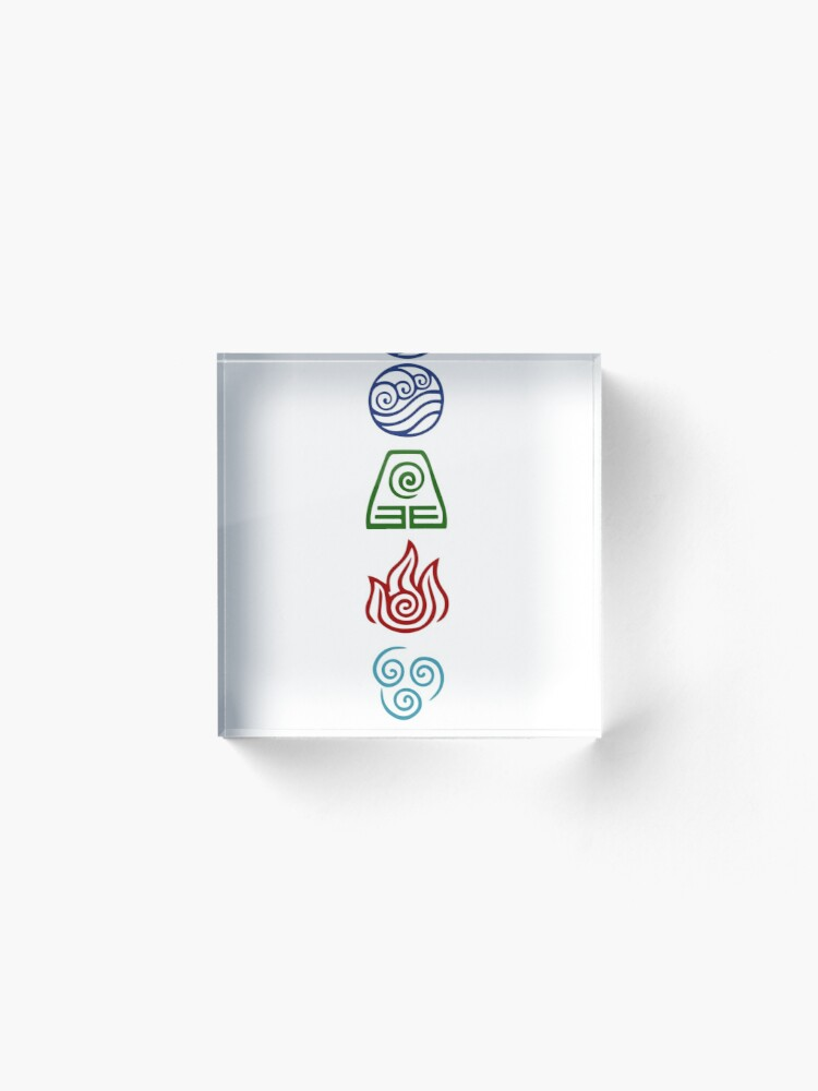 Alternate view of Avatar Four Elements Acrylic Block