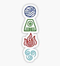 Avatar Four Elements Sticker
