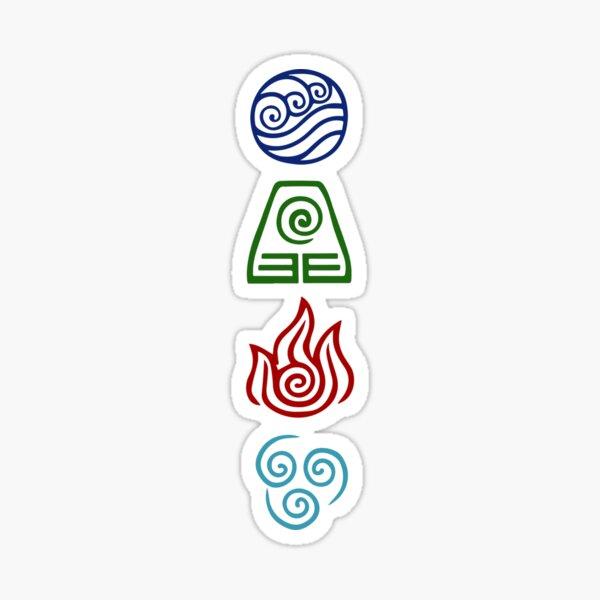 Avatar de cuatro elementos Pegatina