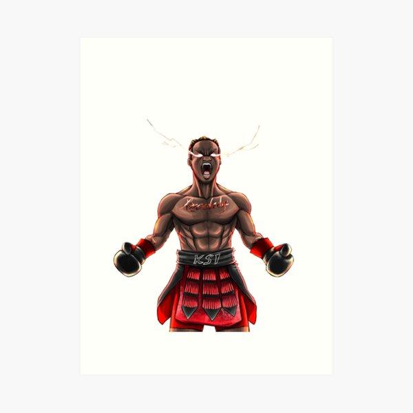 Ksi Vs Logan Paul 2 Popular You Tube Personalities Boxing: Ksi Wall Art