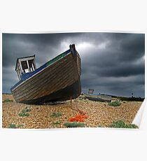 Abandoned Boats, Dungeness, England Poster