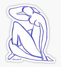 Blue Nude II Sticker