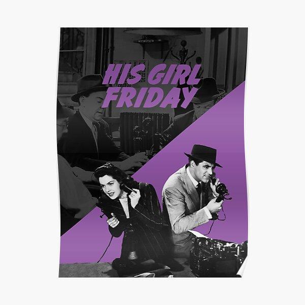 HIS GIRL FRIDAY - Howard Hawks Poster