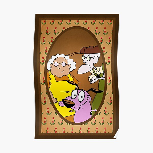 Courage the Cowardly Dog Family Portrait Poster