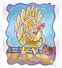 Animal Parade Chicken Poster