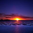Evening glitter in Hervey Bay by Peter Doré