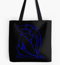 Blue Nude II (black) Tote Bag