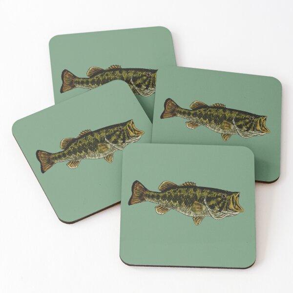 Bass Fish Coasters (Set of 4)