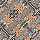 Lattice Bloom 3 Kalo Pattern Design by Jenny Meehan by JennyMeehan
