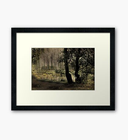 The Villiage Pond Framed Print