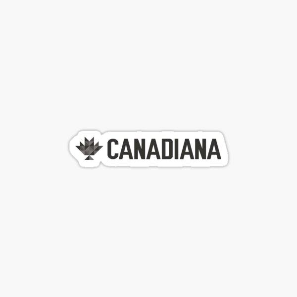 Canadiana text logo black Sticker