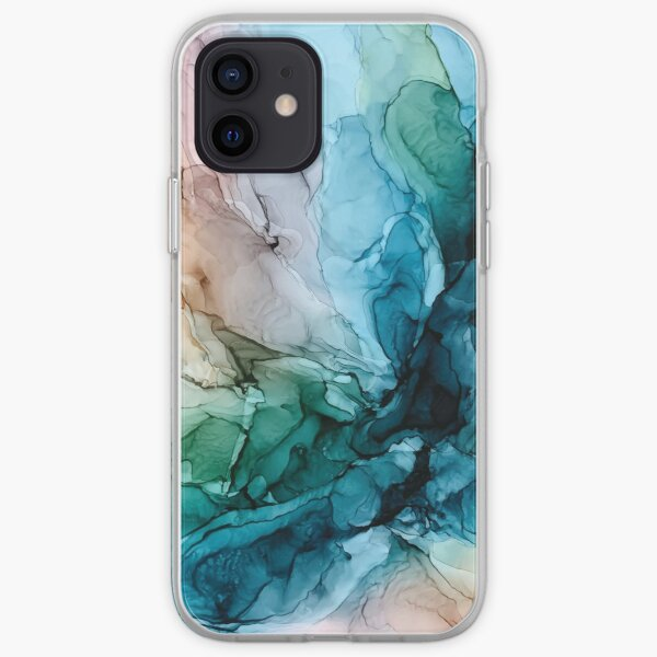 Salty Shores Colorful Abstract Painting iPhone Soft Case
