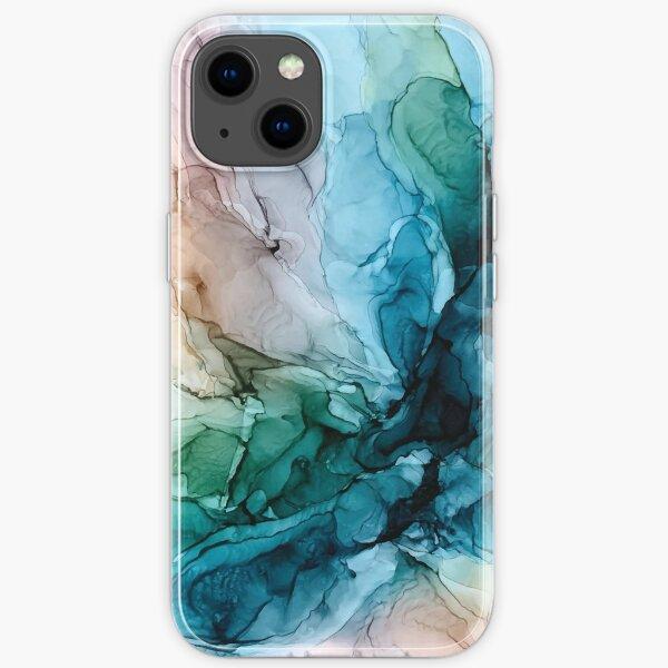 Salty Shores, peinture abstraite colorée Coque souple iPhone