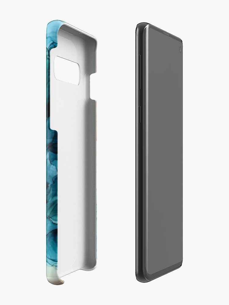 Alternate view of Salty Shores Colorful Abstract Painting Case & Skin for Samsung Galaxy