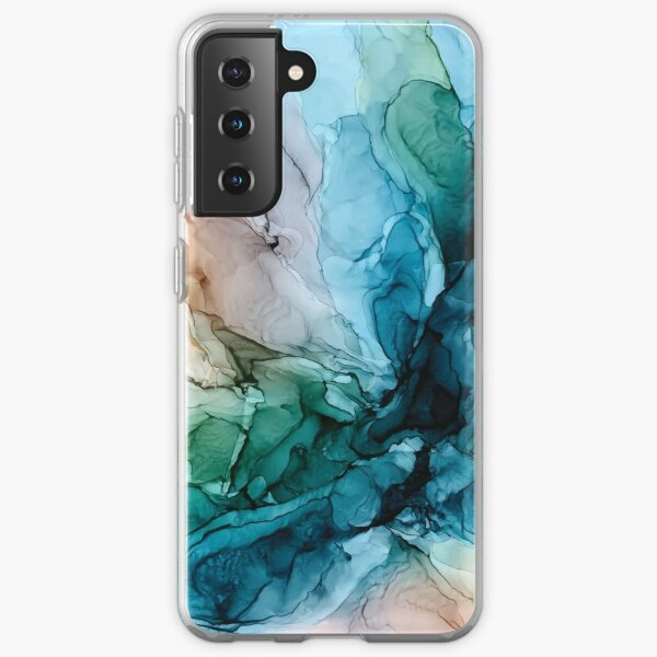 Salty Shores Colorful Abstract Painting Samsung Galaxy Soft Case