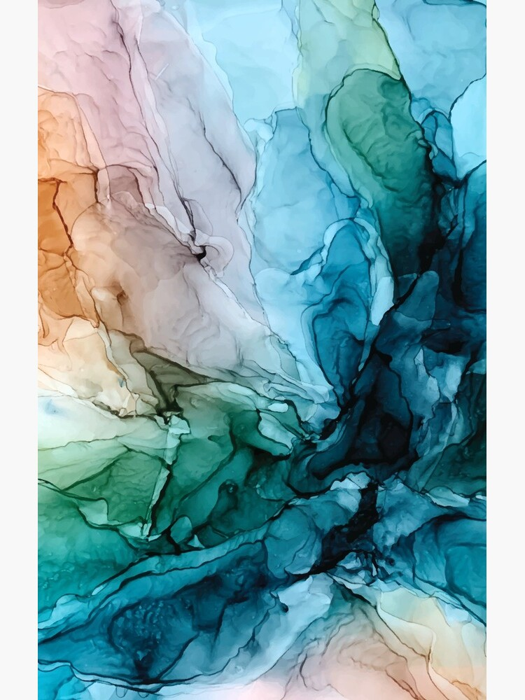 Salty Shores Colorful Abstract Painting by LSchulz19