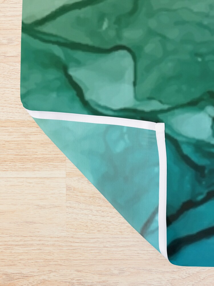 Alternate view of Salty Shores Colorful Abstract Painting Shower Curtain