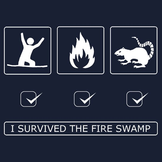 TShirtGifter presents: I survived the fire swamp