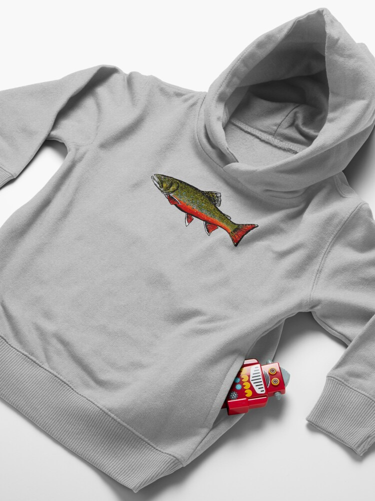 Alternate view of Brook Trout Toddler Pullover Hoodie