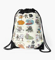 Mouse Stories Drawstring Bag