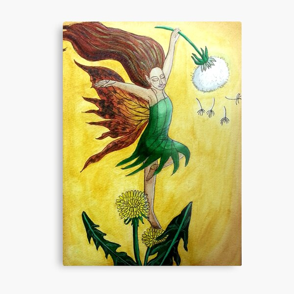 Dandelion Dancer - Fairy Art Metal Print