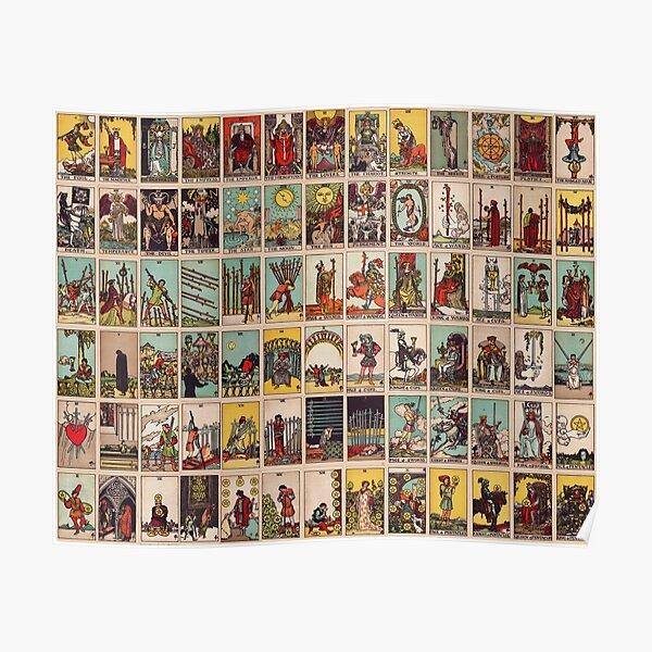 The Full Tarot deck. Major and Minor Arcana Poster