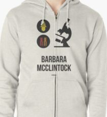 BARBARA MCCLINTOCK (Dark Lettering) - Clothing & Other Products Zipped Hoodie