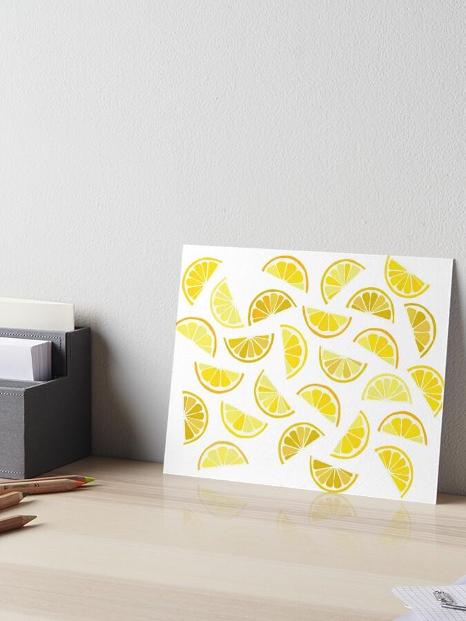 Lemon Pattern Art Board Print By Paiigezilla Redbubble