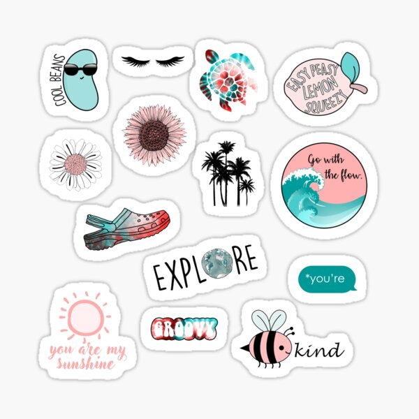 Buntes Retro Inspirationspaket Sticker