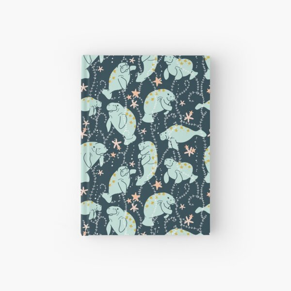 Oh the Hue-Manatee: Teal Hardcover Journal