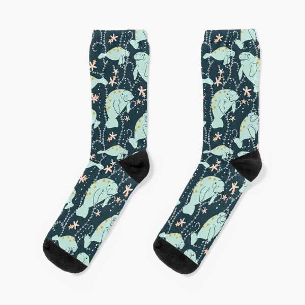 Oh the Hue-Manatee: Teal Socks