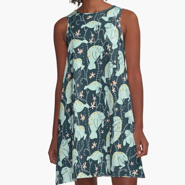 Oh the Hue-Manatee: Teal A-Line Dress