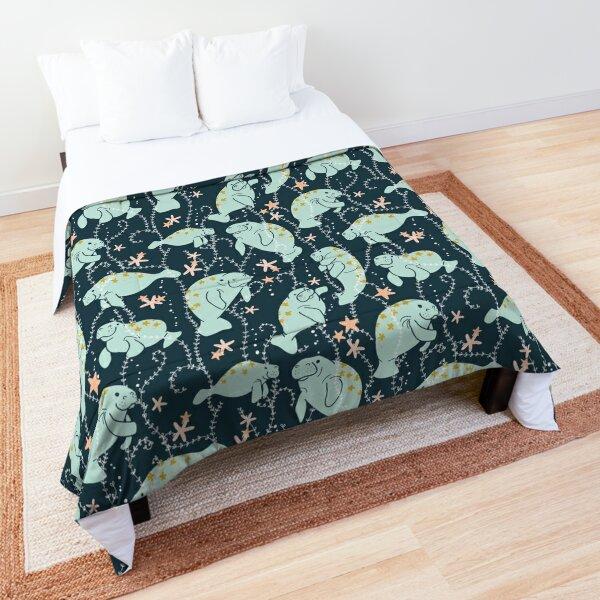 Oh the Hue-Manatee: Teal Comforter