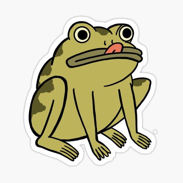 Frog Derp - Over the Garden Wall Sticker