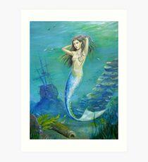 Mermaid of the Deep Art Print